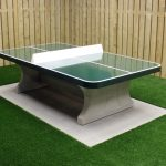 Table de ping pong verte angles arrondis
